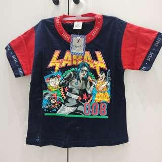 New! Kaos Anak 4-5 tahun Biru Dongker