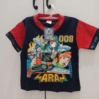 New! stok 1 Kaos Anak 2 tahun Dongker