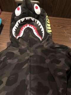 Bape Shark Hoodie Black Camo Full Zip (A Bathing Ape)