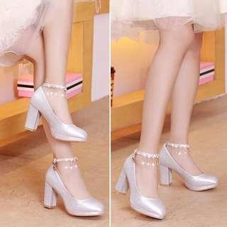 銀色閃閃高跟鞋 全新未著過