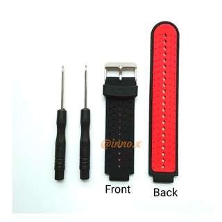 New - Forerunner 220/230/235/620/630/735XT Compatible Strap (BLK/RED)