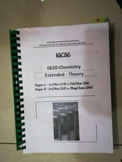 IGCSE CHEMISTRY PAST YEARS