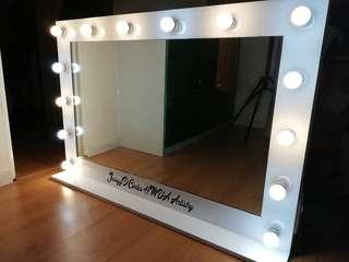 Vanity mirror with name