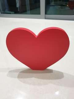"""Wooden 3D letter """"heart"""" for wedding or birthday deco"""