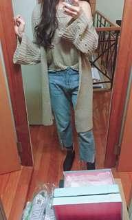 🚚 薄針織挖肩上衣+罩衫