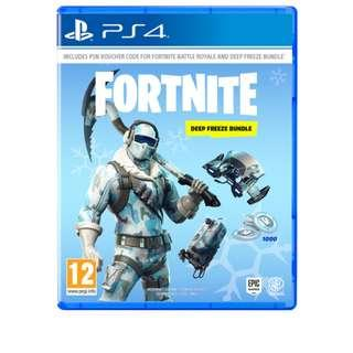 (SOLD!) PS4 Fortnite Deep Freeze Bundle (English Version)