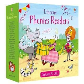 🚚 Usborne Phonics Readers Set Consists of 20 books & CD