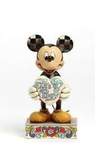 ❤ DISNEY MICKEY MOUSE FIGURINE - IT'S A BOY
