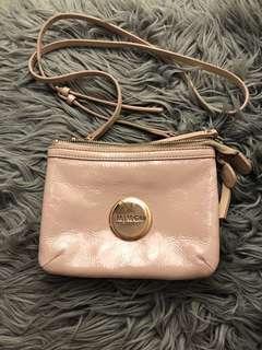 Rose gold Mimco bag