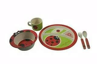 Bamboo Fibre Dining Set Peralatan Makan Anak