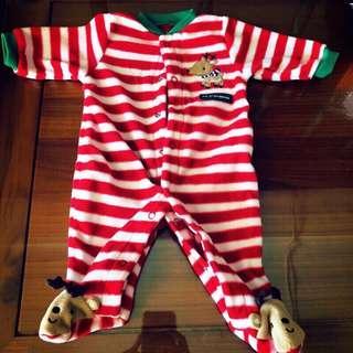🚚 Carter's 聖誕節麋鹿裝 包屁衣