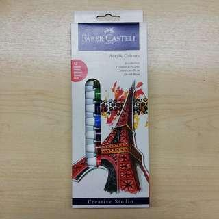 #NEW99 Faber-Castell Creative Studio Acrylic Colours 12ct box