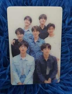 Love Yourself Tear Officia Special Group Photocard