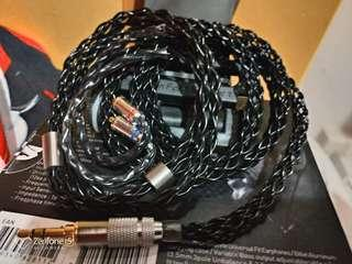 冷涷8絞7N單晶銅鍍銀耳機升級線 3.5 mmcx fender campfire westone shure