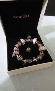 Pandora Bracelet w charms more than 50% off