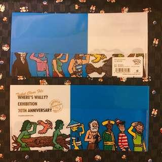 Wally Ticket File [Blue] 🔍日本製🇯🇵展覽館限定商品 Wally Stationery ~ Where's Wally 30周年Exhibition🔍