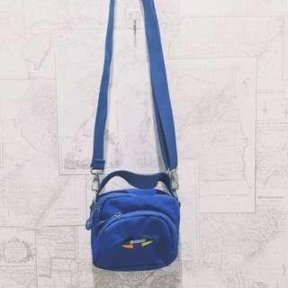 🚚 藍色 古著 小包