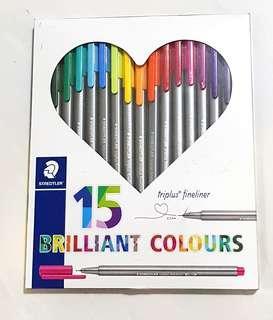 Instock: Staedtler Triplus Timelines (0.3mm) 15 brilliant colours