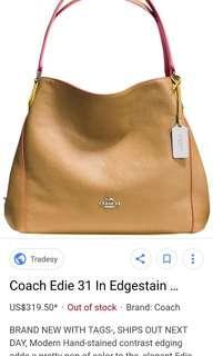 Edgestain Eddie Coach shoulder bag