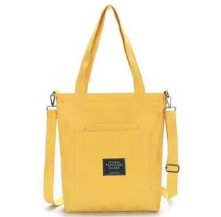 [Instocks] Canvas sling Bag with removable strap