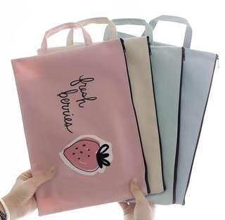 3pcs @$15 — Student A4 stationary / storage bag