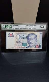 50 Dollars Singapore OPJ Prefix Replacement /Star