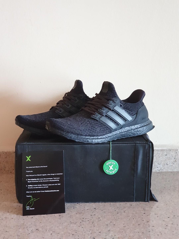 e048a626f0f7 Adidas ultraboost 3.0 triple black Cg3038 - matte heel cup