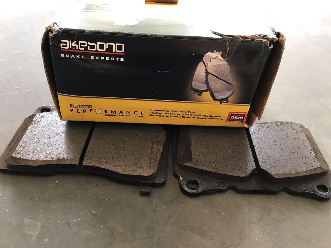 Akebono Brake Pads for Brembo (Gold) Calipers for Subaru