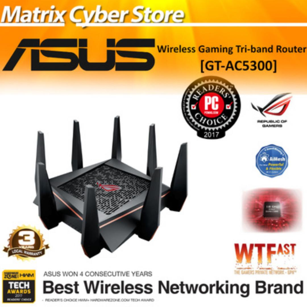 ASUS ROG RAPTURE GT-AC5300 Wireless AC5300 Gaming Router VR