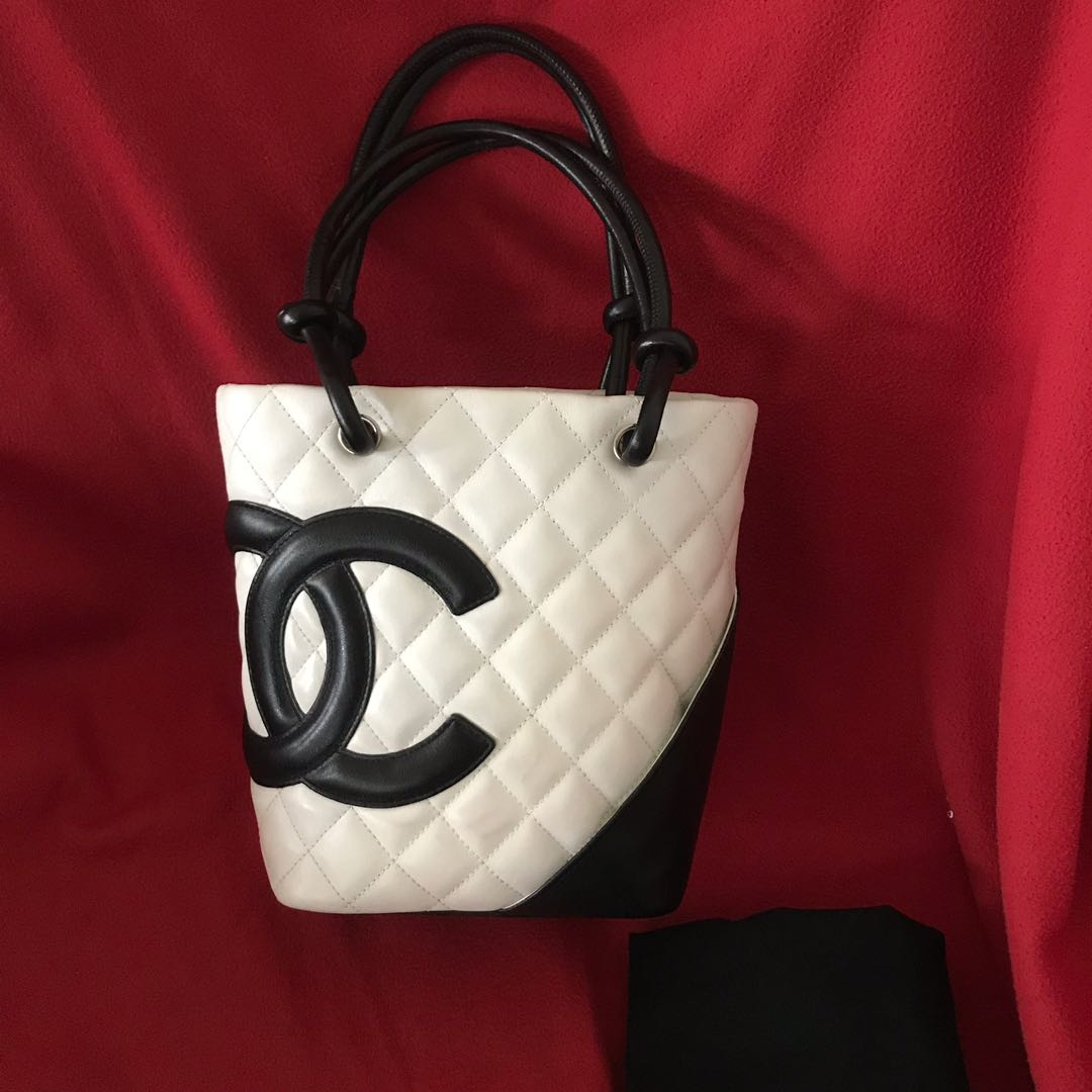 daf8649c86c7 Authentic Chanel Cambon Small Tote Bag