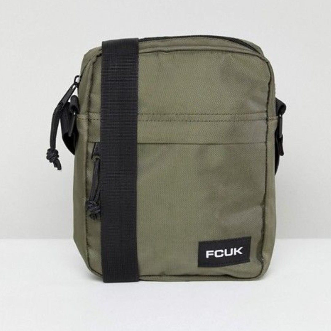 bb080438a9 BN FCUK French Connection Mens  Bag Flight Sling bag INSTOCK ...