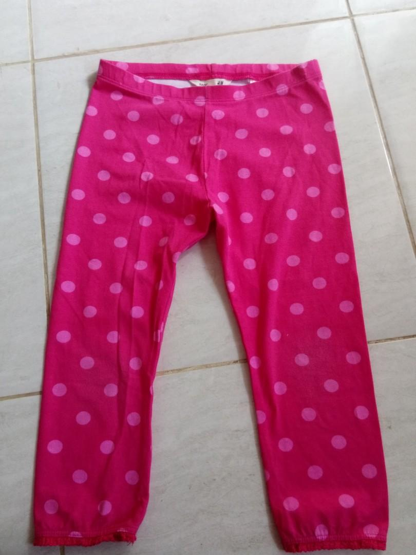 H M Legging Anak Babies Kids Girls Apparel 4 To 7 Years On Carousell