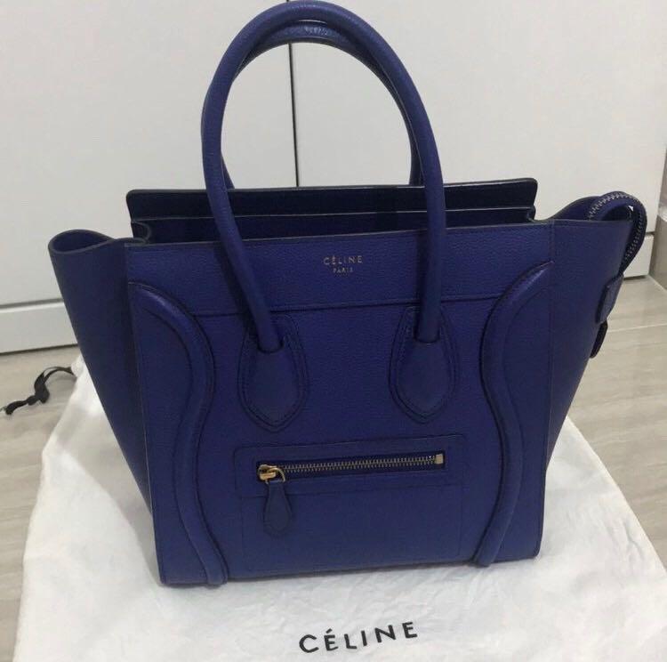 98603ec883a85 Celine Micro Luggage Indigo