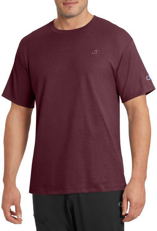 6c3fa1f6 champion maroon/burgundy shirt, Men's Fashion, Clothes, Tops on Carousell