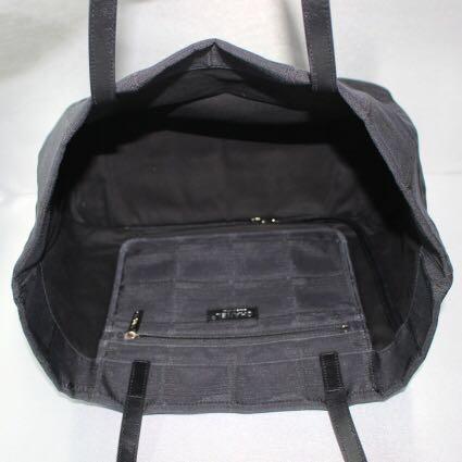 Chanel Black Travel Line Tote Shopping Bag  fdf4437a35c78