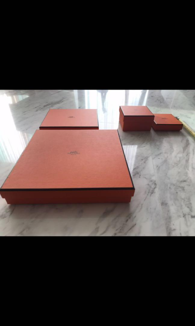 Empty hermes boxes and bag