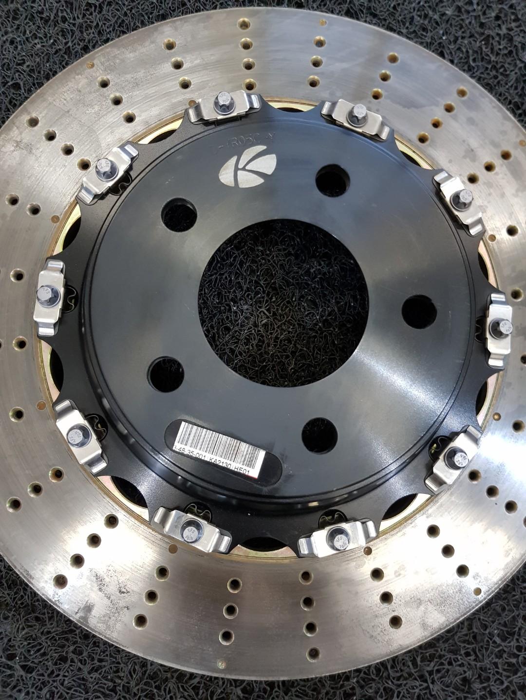 Enlarge rear brake rotor for BMW F10