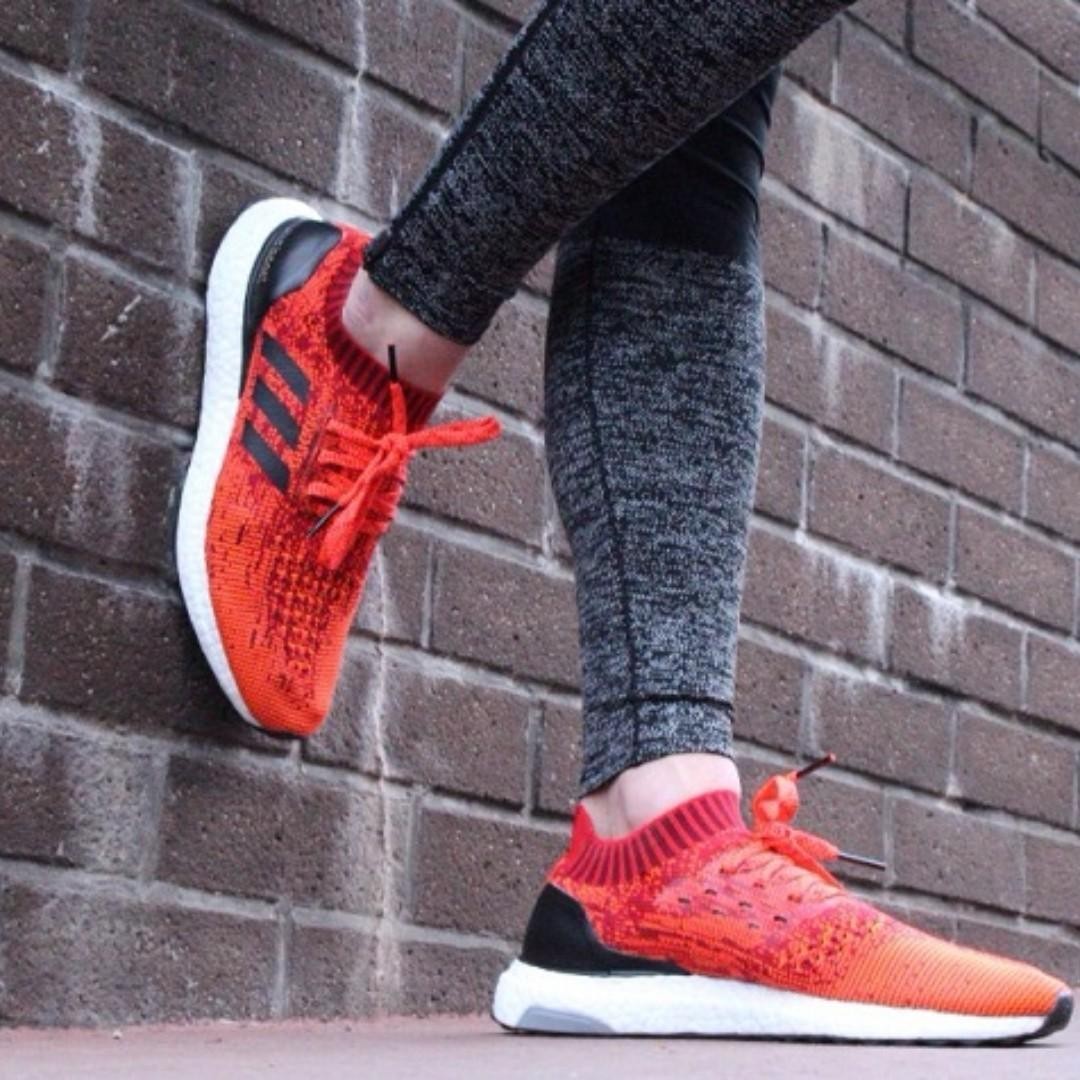 Exclusive US10.5 Adidas Mens Ultra Boost Uncaged Solar Red