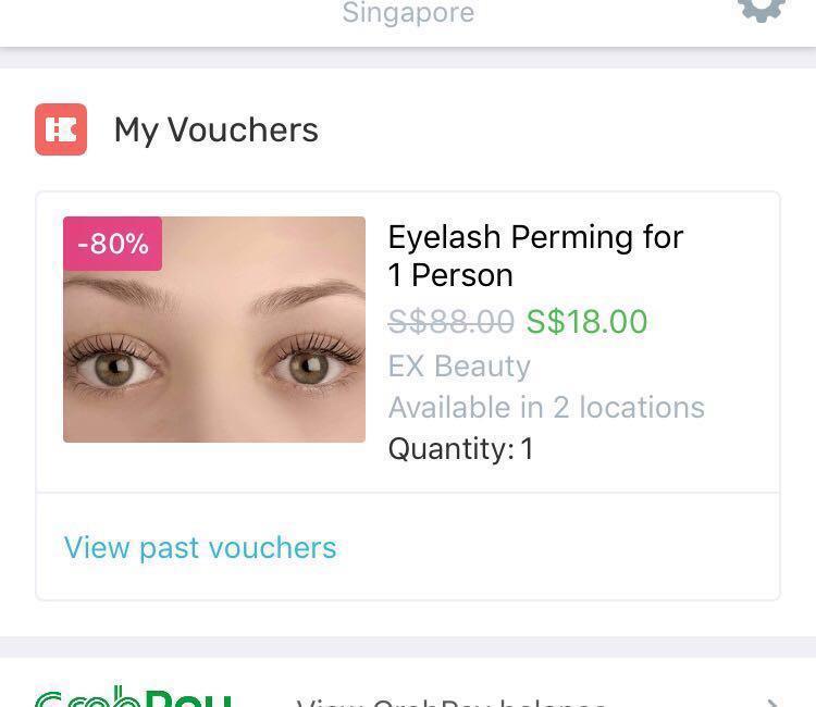 Eyelash Perming / Lash Lift FAVE APP Voucher @ EX Beauty