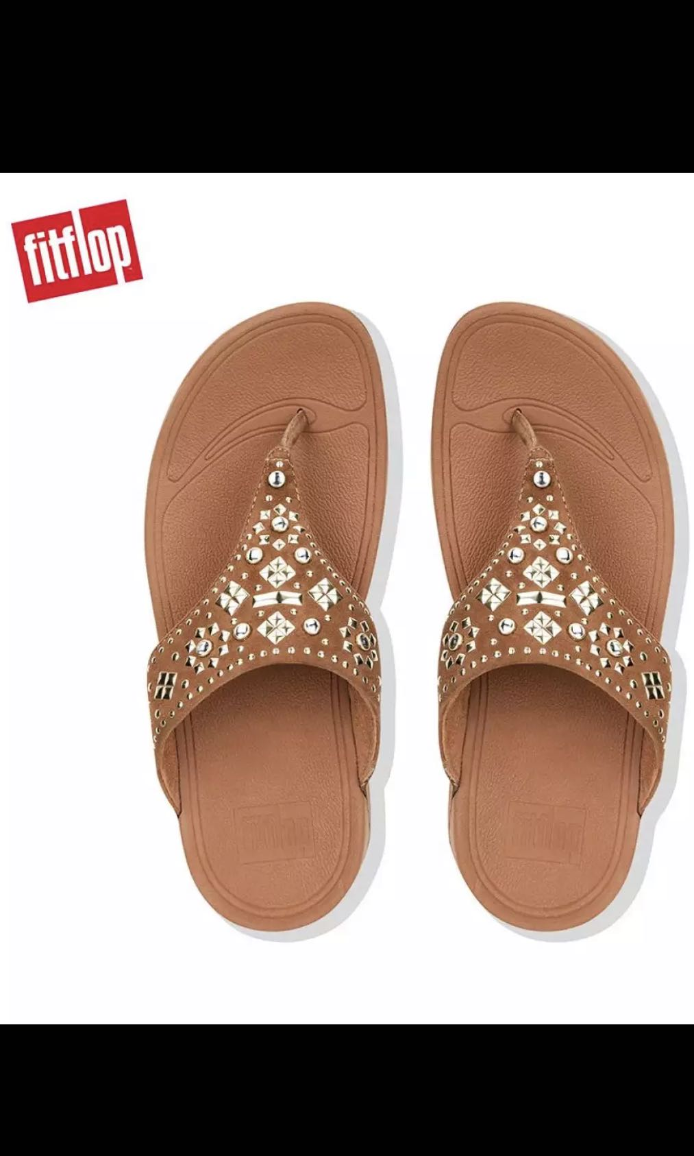 2896c1d14167 Fitflop Women s Sandals K50 LULU AZTEK STUD TOE THONG SANDALS ...