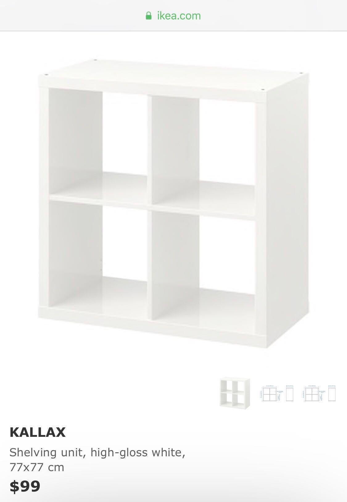 100% authentic 4d7bf bdde5 Free Delivery BN Ikea KALLAX Shelving Unit, Furniture ...