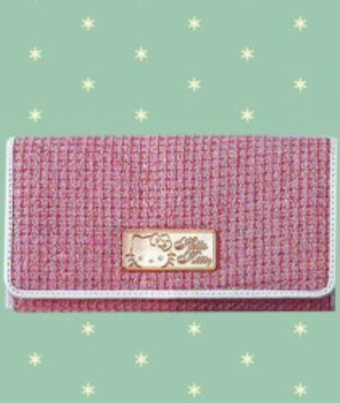 6d6d07a962 hello kitty tweed wallet