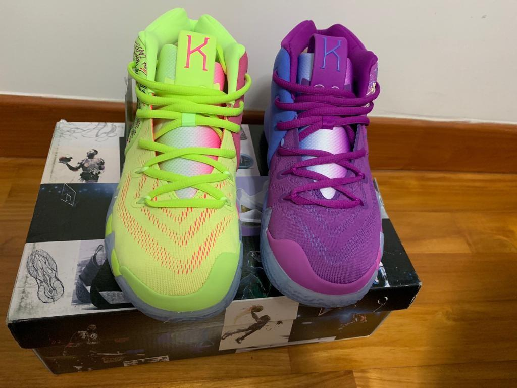 cheap for discount 8e3a8 29eb5 Kyrie 4 confetti multi color-lookalike, Sports, Sports ...
