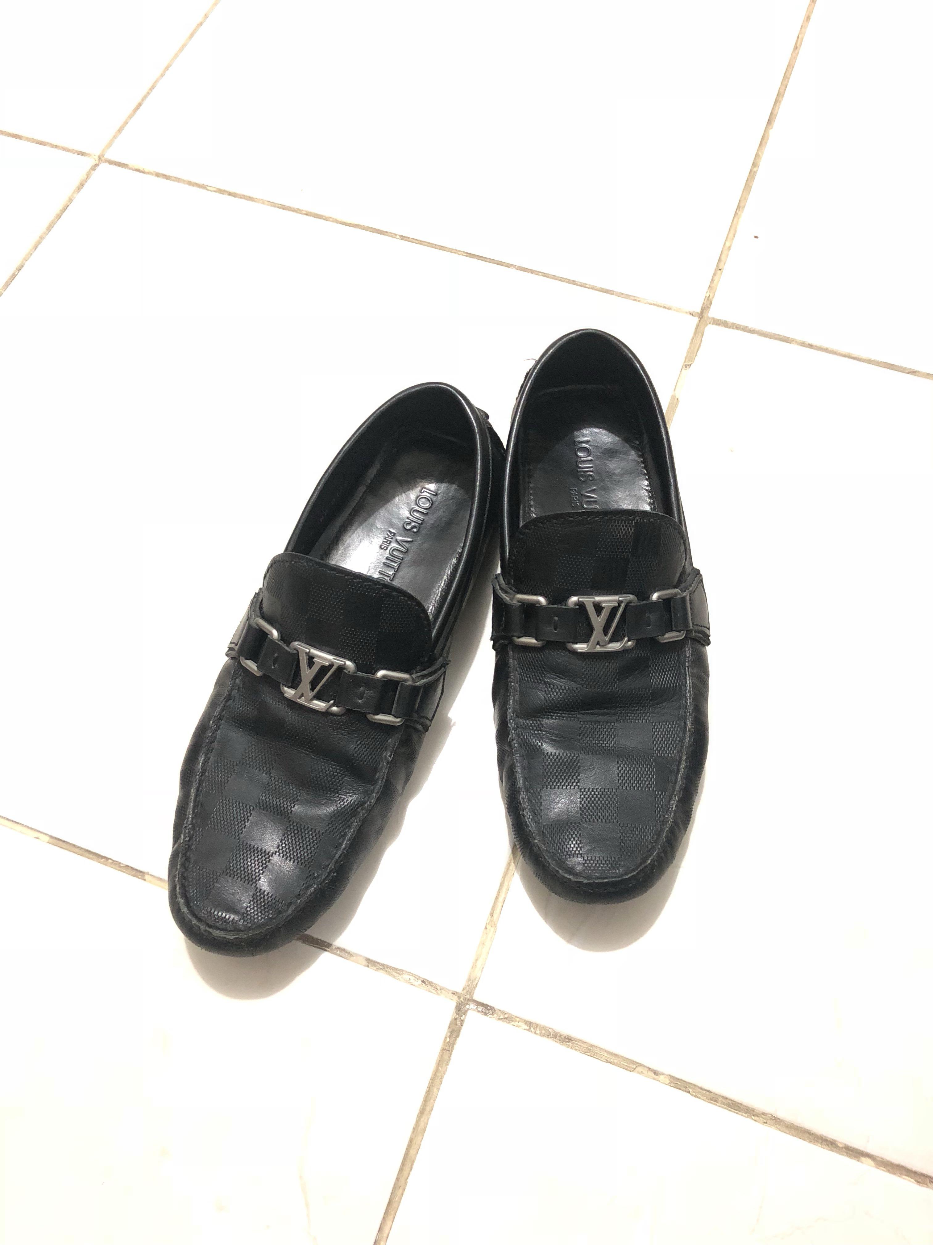 Louis Vuitton LV Black Damier Shoes Super Mirror Quality 1 1 ... 9ca27b33b1