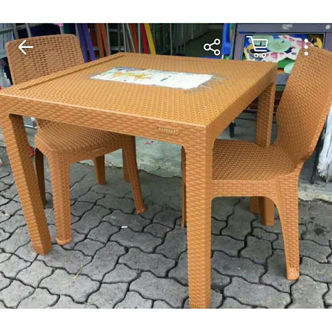 Meja Makan Rotan Napolly Home Furniture On Carousell