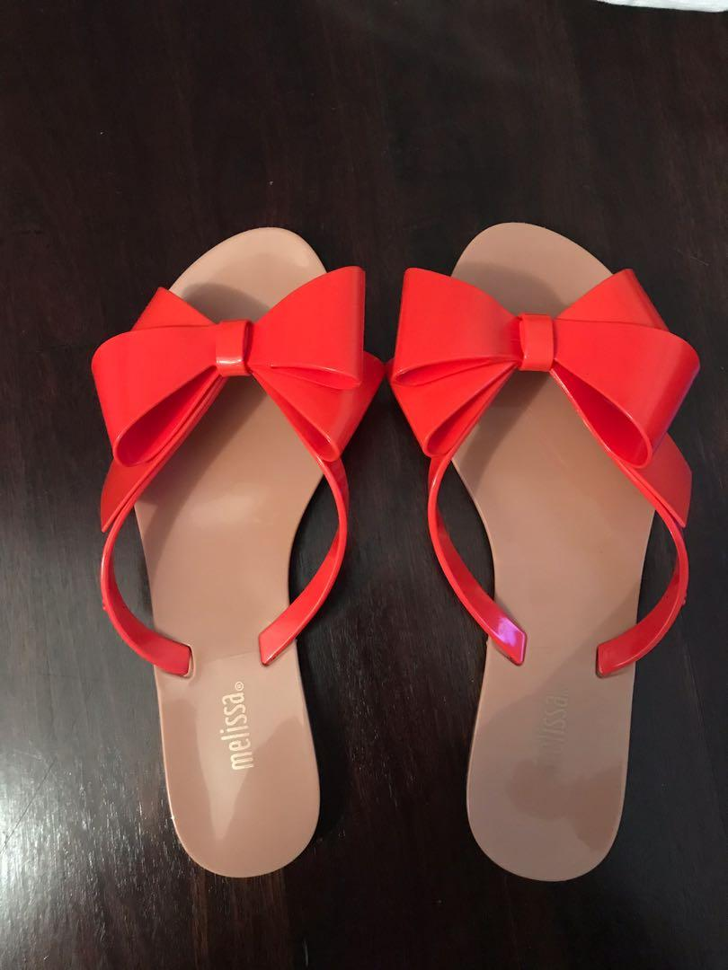 Melissa Bow Thongs - Brand New!
