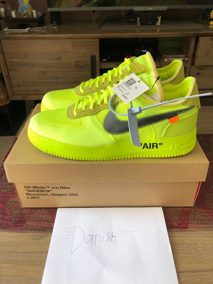 Nike Off White Air Force 1 Volt US 12 ec033b262