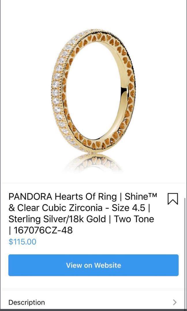 Pandora ring of hearts