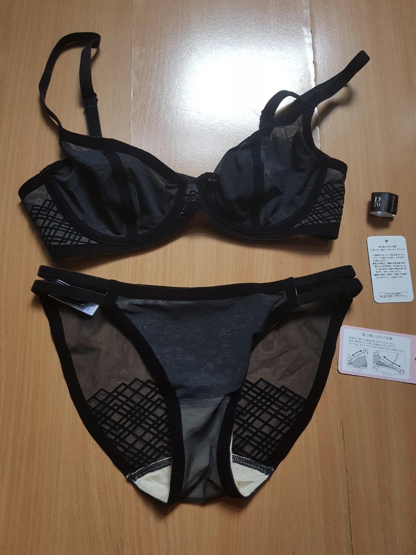3a8438a520 Peach John Sexy Mesh Hidden Lace Lingerie Set (Bra + Panties ...