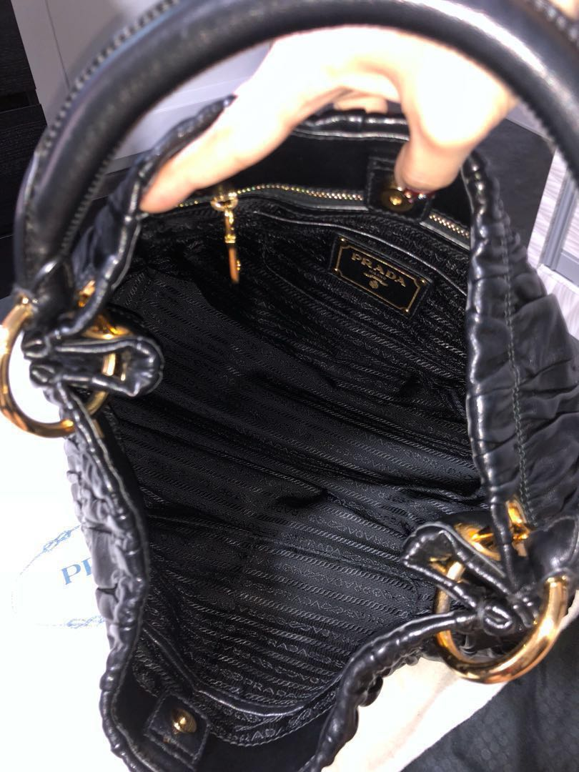 09ebf6767542a6 Prada Nappa Gaufre Hobo Black Bag, Luxury, Bags & Wallets, Handbags ...